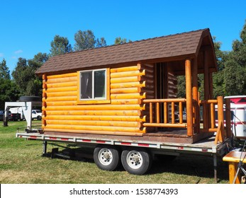 AUBURN, CALIFORNIA SEPTEMBER 26, 2019 A tiny house, part of the Tiny House Village at the Home Show