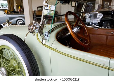Auburn Indiana / USA 5/26/2016 Auburn Cord Duesenberg Museum National Register of Historic Places collection and preservation of american automobiles with visual exhibits. Old School Cool Festival Car