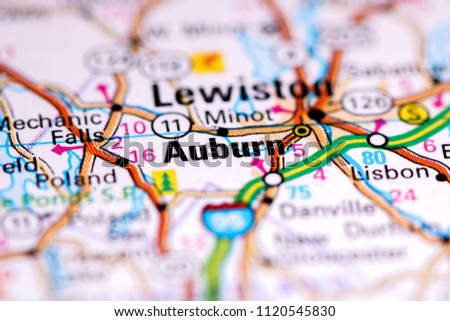 Auburn Maine Usa On Map Stock Photo Edit Now 1120545830 Shutterstock
