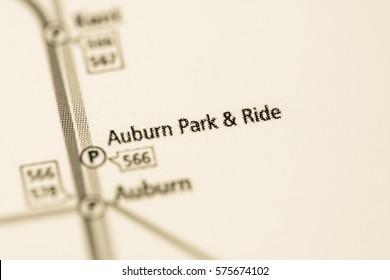 Auburn Park & Ride Station. Seattle Metro map.