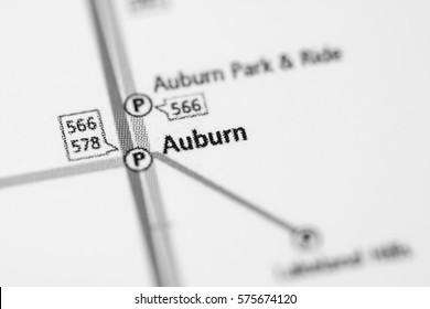 Auburn Station. Seattle Metro map.