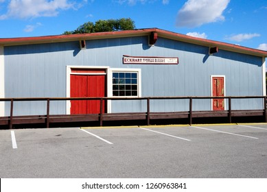 Auburn, USA - October 20, 2018 - The last remaining building of Eckhart Carriage Company (later Auburn Automobile Company) in Auburn, Indiana