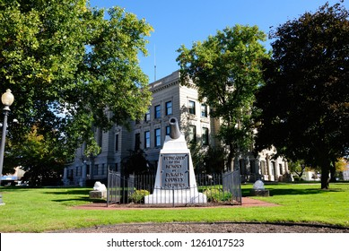 Auburn, USA - October 20, 2018 - DeKalb County Courthouse in Auburn, Indiana