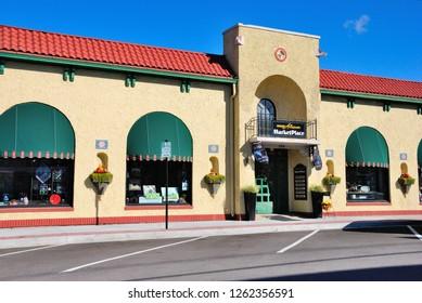 Auburn, USA - October 20, 2018 - Atrium Market Place in downtown Auburn, Indiana