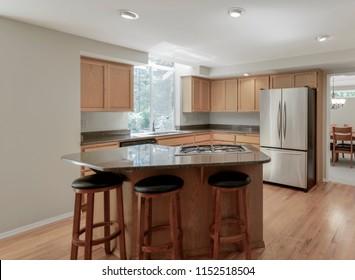 Auburn, WA / USA - Aug. 5, 2018: Modern kitchen interior