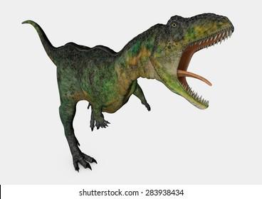 Aucasaurus growling - 3D