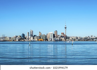 Auckland City View from Bayswater Wharf Auckland New Zealand; The Bigest City in New Zealand