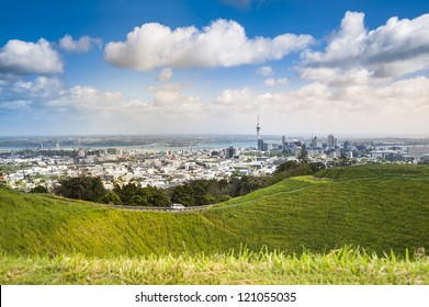 Auckland city view from Eden Mountain