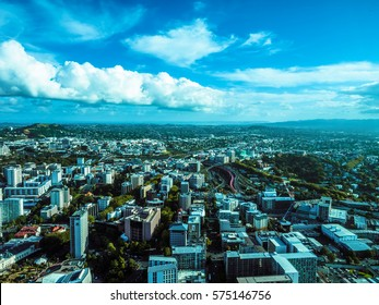 Auckland Cityscape from Sky Tower in New Zealand.