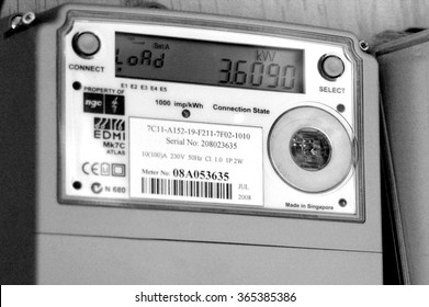 AUCKLAND - DEC 06 2015:Smart meter.Concerns have been raised about the safety of smart meters, mainly because they give off the same kinds of radiofrequency (RF) waves as cell phones and Wi-Fi devices