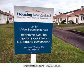 AUCKLAND - FEB 09 2018:Housing New Zealand Corporation public housing state houses. It is a Crown agency that provides housing services for New Zealanders in need.