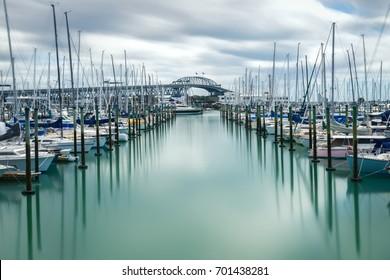Auckland Harbour Bridge, New Zealand.
