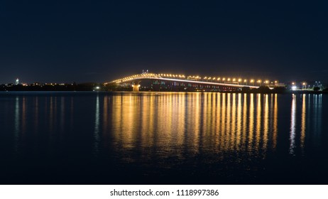 Auckland Harbour Bridge at Night over Waitemata Harbour