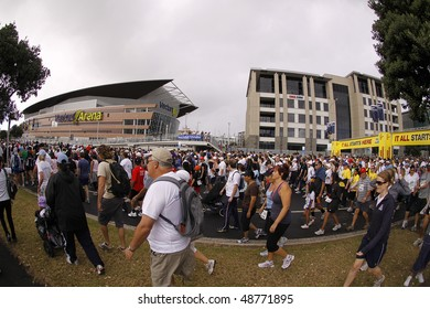 AUCKLAND- MARCH 14: Participants of Auckland Round the Bays,one of the world's largest fun-runs with an estimated 70,000 entrants, on March 14, 2010 in Auckland, New Zealand.