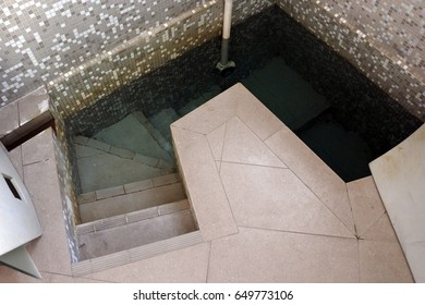 AUCKLAND - MAY 30 2017: A contemporary mikveh. Mikveh is a special bath used for the purpose of ritual immersion in Judaism.