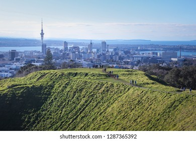 Auckland Mt Eden summit beautiful view from a hill New Zealand