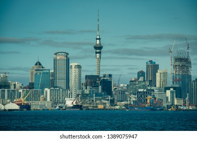 Auckland, New Zealand 06 March 2019. Landscape and cityscape of the biggest city in New Zealand, North Island.