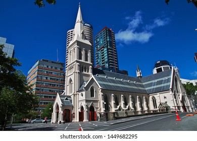 Auckland / New Zealand - 15 Dec 2018: The church in Auckland city, New Zealand