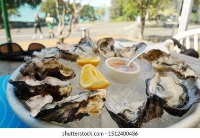 auckland, new zealand - 22 september. Sunday afternoon's Comfortable Tacapuna Beach Foods and Landscape Photographs