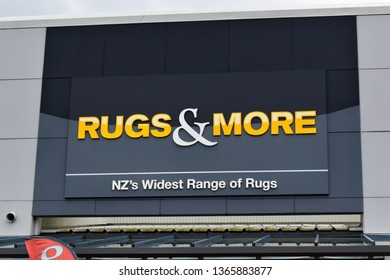 Auckland / New Zealand - April 11 2019: Rugs & More store sign in Manukau