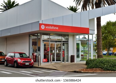 Auckland / New Zealand - April 11 2019: Vodafone mobile operator store in Manukau