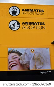 Auckland / New Zealand - April 11 2019: Animates DIY dog wash and adoption center in Manukau