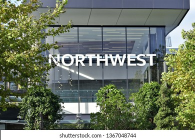 Auckland / New Zealand - April 12 2019: View of NorthWest shopping centre sign in Westgate