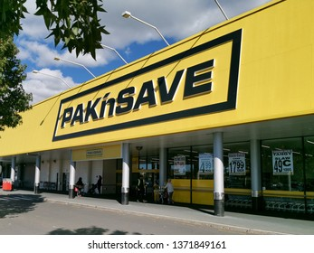 Auckland / New Zealand - April 17 2019: View of Pak'nSave Supermarket in Botany Town Centre