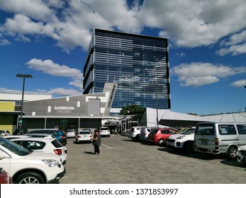 Auckland / New Zealand - April 17 2019: View of high rise office building at Sylvia Park