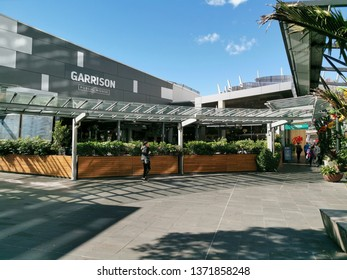 Auckland / New Zealand - April 17 2019: View of Garrison public house bar and cafe at Sylvia Park shopping centre
