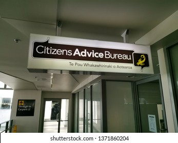 Auckland / New Zealand - April 17 2019: View of Citizens Advice Bureau at Sylvia Park shopping centre