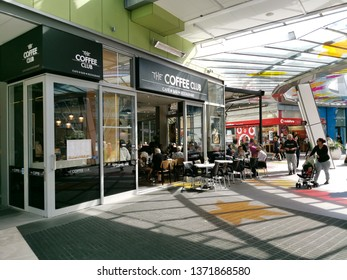 Auckland / New Zealand - April 17 2019: View of Coffee Club cafe inside Sylvia Park shopping centre