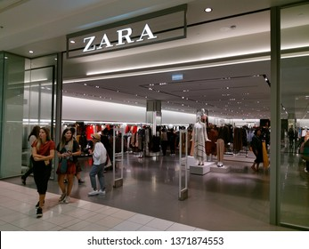Auckland / New Zealand - April 17 2019: View of Zara store inside Sylvia Park shopping centre