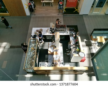 Auckland / New Zealand - April 17 2019: Aerial view Cova cafe at Sylvia Park shopping centre