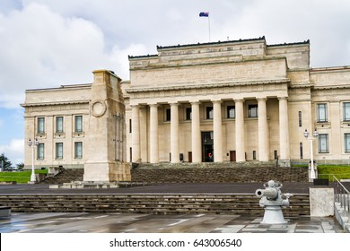 AUCKLAND, NEW ZEALAND - APRIL 7: Auckland War Memorial Museum on 7 April, 2017. The museum is the most popular visitor attraction in New Zealand's largest city (population 1.5 million)