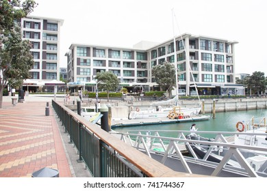 AUCKLAND, NEW ZEALAND - DECEMBER 1: Harbor in Auckland on December 1st, 2015. Auckland is one of the biggest cities in New Zealand.