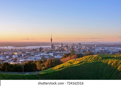 Auckland, New Zealand at Dusk