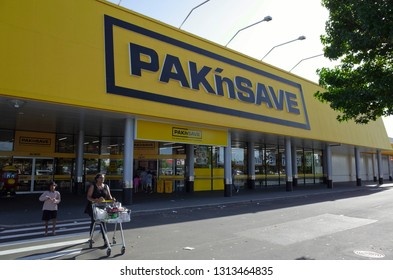 Auckland / New Zealand - February 15 2019: Pak'nSave Supermarket