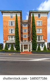 Auckland, New Zealand - January 06, 2020: Beautiful building in Parnell, Auckland, New Zealand.