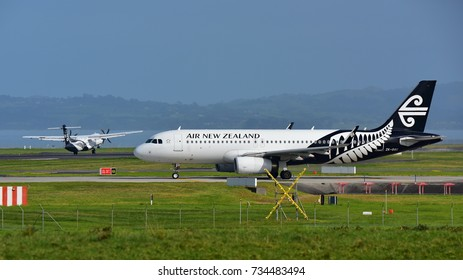 AUCKLAND, NEW ZEALAND - JULY 10:  Air New Zealand Airbus A320 taxiing for departure at Auckland International Airport on July 10, 2017 in Auckland