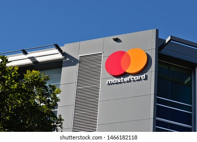 Auckland / New Zealand - July 28 2019: View of Mastercard office building in Auckland Downtown