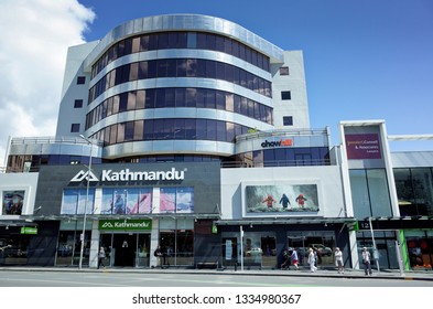 Auckland / New Zealand - March 11 2019: Kathmandu outdoor and camping store at Broadway