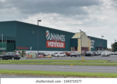 Auckland / New Zealand - March 20 2019: Bunnings Warehouse East Tamaki store offers diy, garden and hardware products