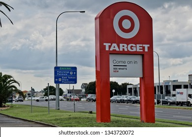 Auckland / New Zealand - March 20 2019: Target Furniture East Tamaki road sign