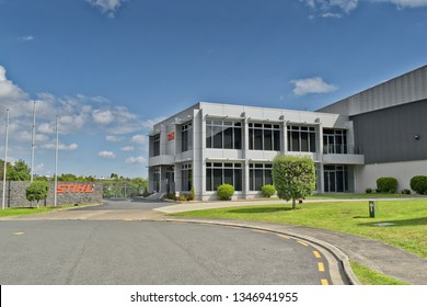 Auckland / New Zealand - March 23 2019: Stihl office and factory in Botany