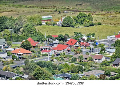 Auckland / New Zealand - March 26 2019: Clevedon village center aerial view