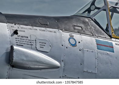 Auckland / New Zealand - March 30 2019: Close-up outside view of cockpit of NZ Warbirds North American T-6 Texan (Harvard) at Ardmore airport