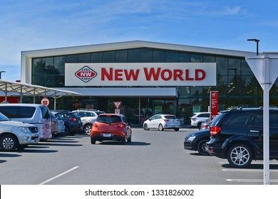 Auckland / New Zealand - March 7 2019: New World supermarket