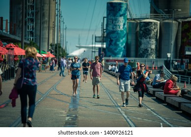 Auckland, New Zealand. Oceania. Auckland downtown city center urban skyline and people street photography. 16 March 2019. World Tour Cruise 2019