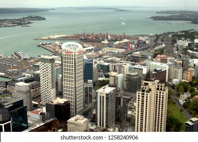 Auckland, New Zealand, October 13, 2017: View of the city of Auckland on the north island of New Zealand